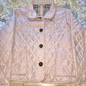 Women's Burberry light pink quilted jacket s/m